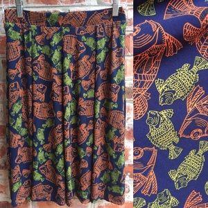 NWOT LulaRoe Madison Fish Skirt Medium M Blue